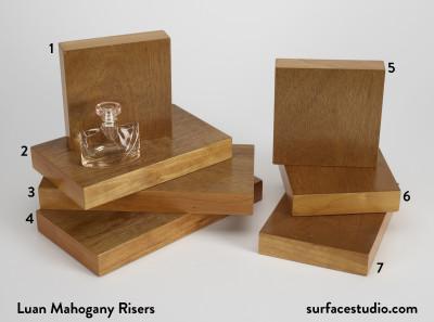 Luan Mahogany Risers (7) $35 - $45