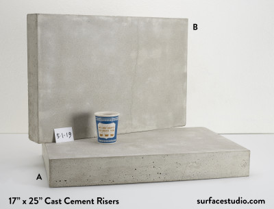 Cast Cement Risers (35 lbs) ~ $150 Each