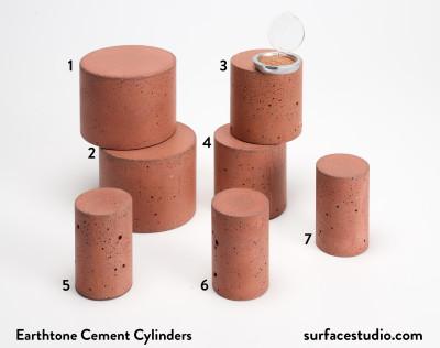 Earthtone Cement Cylinders (7) $30 - $40