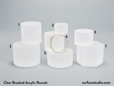 Clear Brushed Acrylic Rounds - $25 - $35  (7)