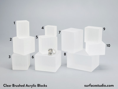 Clear Brushed Acrylic Blocks $30 - $45 (10)