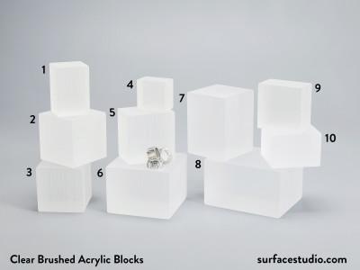 Clear Brushed Acrylic Blocks $30 - $45 (10)