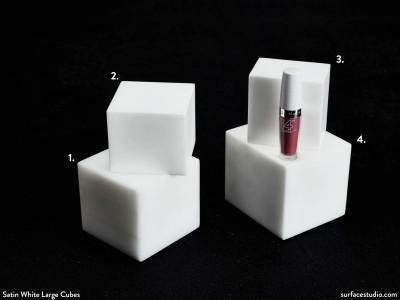 Satin White Large Cubes (4) $35 - $40