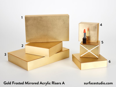 Gold Frosted Mirrored Acrylic Risers A (5) ~ $40 to $50