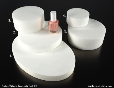 Satin White Rounds Set #1 (5) $35 - $50