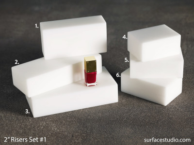 "Satin White 2"" Risers Set 1 (6) $40 - $50"