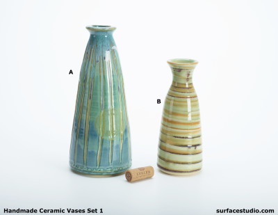 Ceramic Vases Set 1 (2) 30 Each