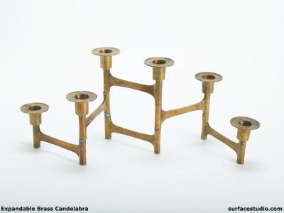 Expandable Brass Candelabra