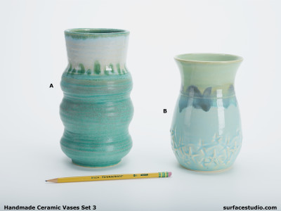 Ceramic Vases Set 3 (2) Each $30