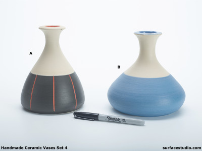 Ceramic Vases Set 4 (2) Each $30