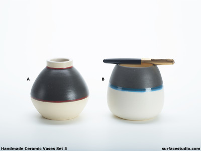 Ceramic Vases Set 5 (2) Each $20