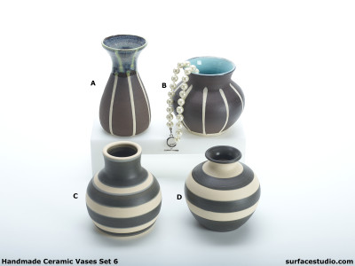 Ceramic Vases Set 6 (4) Each $20