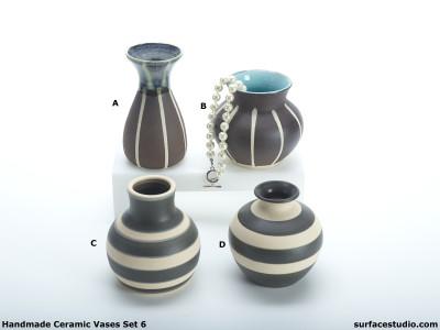 Ceramic Vases Set 6 (4) Each $20