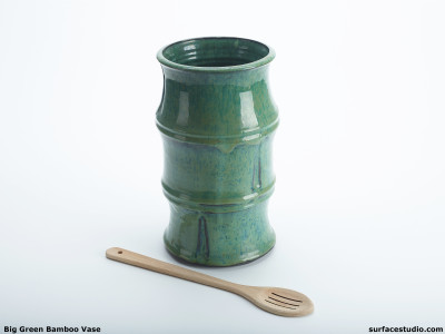 Big Green Bamboo Vase