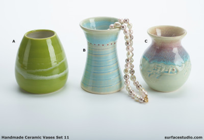 Ceramic Vases Set 11 (3) Each $20