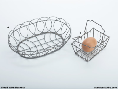 Small Wire Baskets (2) $20 Each