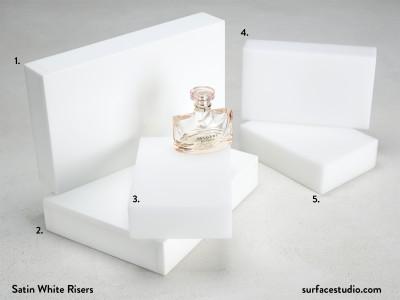 Satin White Risers (5) $45 - $55