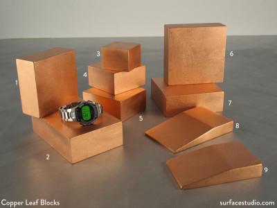 Copper Leaf Blocks   $20 to $35