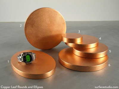 Copper Leaf Rounds & Ellipses (6) $25 - $45