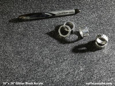 Glitter Black Acrylic