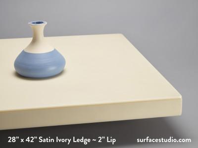 "Satin Ivory Ledge ~ 2"" Lip ( 25 lbs )"