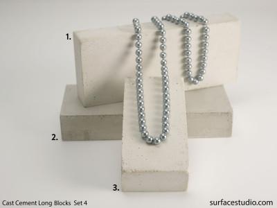 Cast Cement Long Blocks Set 4  (3) $50 each