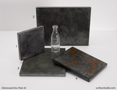 Distressed Zinc Flats - Set Two (4)