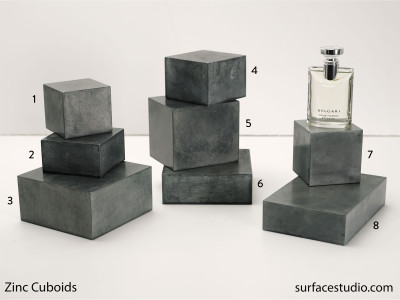 Zinc Cuboids (8) $35 to $45 each