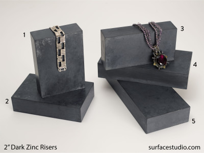 "Dark Zinc Risers 2""  (5) Each $45"