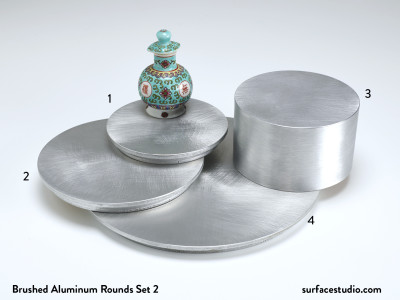 Brushed Aluminum Rounds Set 2 (4) $35 -$55
