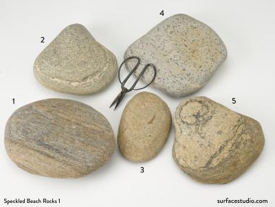 Speckled Beach Rocks Group 1 (5) $30 each C4