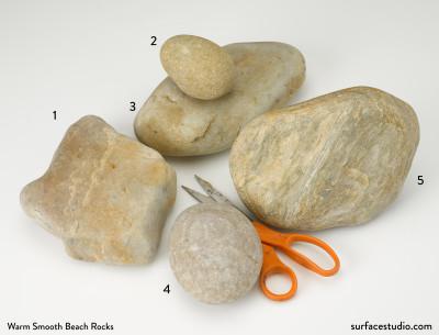Warm Smooth Beach Rocks (5) $25 -$30 each D4