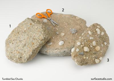 Tumbled Sea Chunks (3) $30 each D2