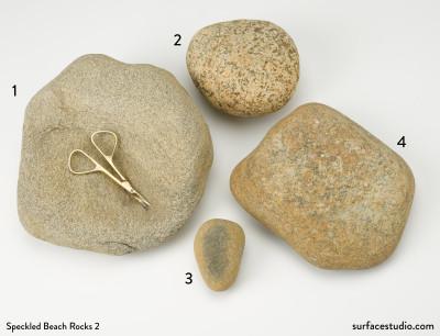 Speckled Beach Rocks Group 2  (4)  $30 each D1