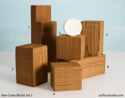 Raw Cedar Blocks Set 2 (6) $30 each