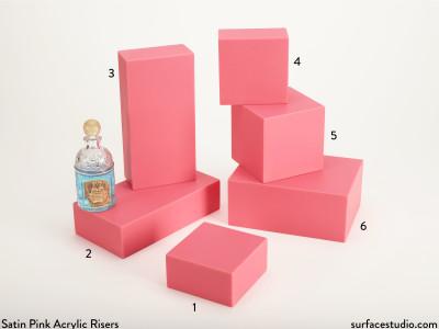 Satin Pink Acrylic Risers (6)