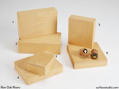 Raw Oak Risers (6) $25 - $40