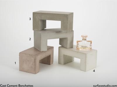 Cast Cement Benchettes (4) $50 Each