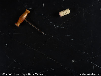 Honed Royal Black Marble (90 lbs)
