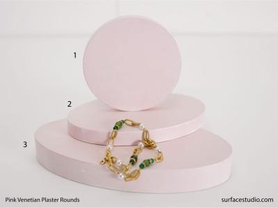 Pink Venetian Plaster Rounds (3) $35 - $50