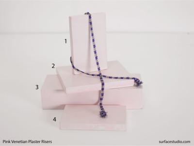 Pink Venetian Plaster Risers (4) $35 - $50