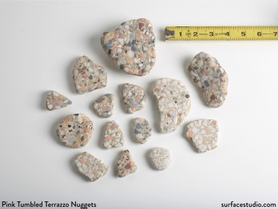 Pink Tumbled Terrazzo Nuggets (14)