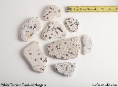 White Tumbled Terrazzo Nuggets (8)