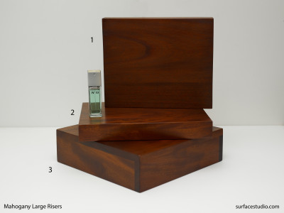 Mahogany Large Risers (3) $85 - $110