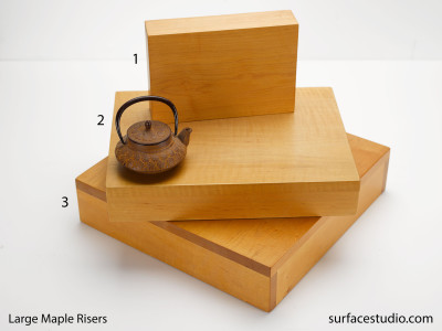 Large Maple Risers $55 to $105