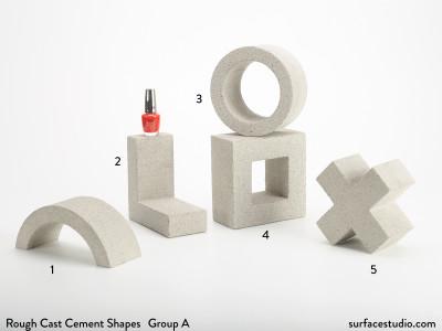 Rough Cast Cement Shapes Group A (5) $50 Each