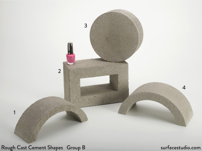 Rough Cast Cement Shapes Group B (4) $60 Each