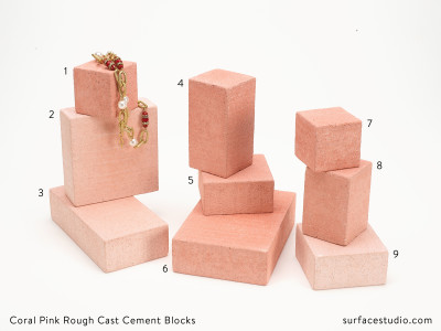 Coral Pink Rough Cast Cement Blocks (9) - $30 each