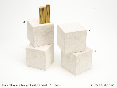 "Natural White Rough Cast Cement 3"" Cubes (4) - $30 each"