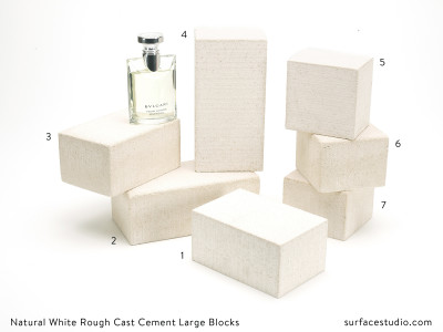 Natural White Rough Cast Cement Large Blocks (7)  - $45 each
